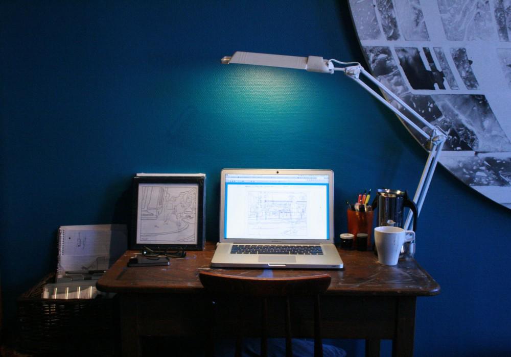 Skrivebordet mitt
